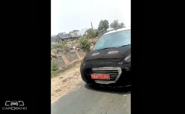 कैमरे में कैद हुई हुंडई की लोकप्रिय कार हुंडई सेंट्रो 2018
