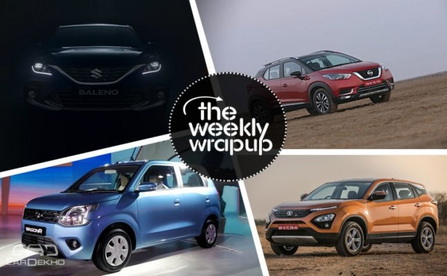 Weekly Wrapup: New Maruti Wagon R 2019, Tata Harrier And Nissan Kicks Launched, Maruti Baleno Facelift Bookings Open And More