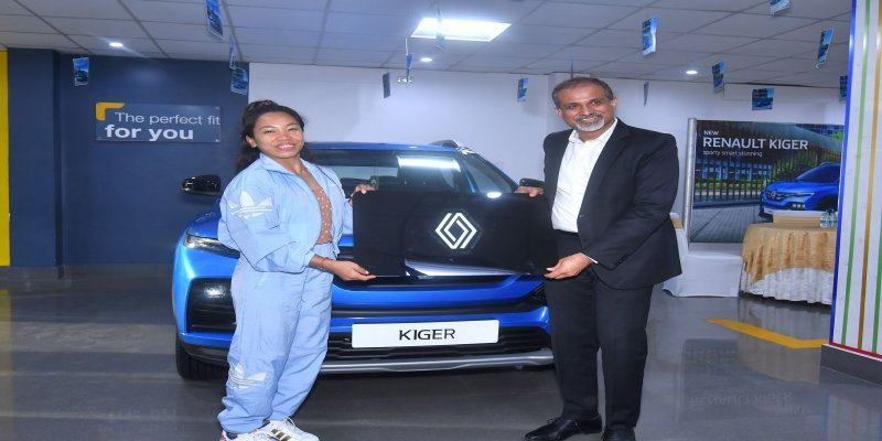 Renault India presents the all new Sporty, Smart & Stunning KIGER to Ace weightlifter and #TokyoOlympics2020 Silver Medalist Saikhom Mirabai Chanu