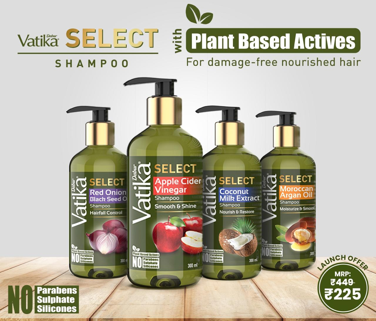 Dabur launches 'Vatika Select' premium range of shampoos