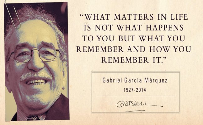 Gabriel Garcia Marquez's writing reveal the stark reality of life