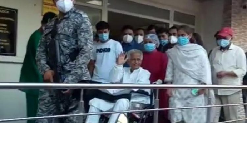 Tarun Gogoi, got discharged from the Gauhati Medical College and Hospital