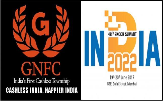 GNFC grabs Skoch Award to go 100% cashless at 48th SKOCH Summit