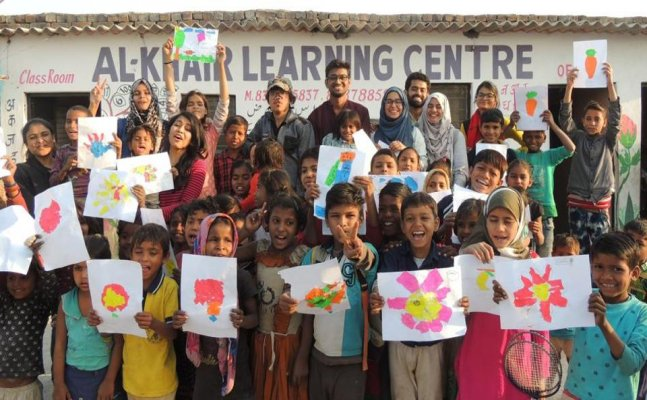 Jamia students turn to blackboards to literate the unprivileged
