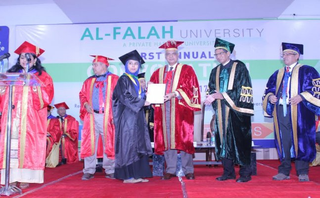 Al-Falah University's 1st Annual Convocation Ceremony held on 20th March