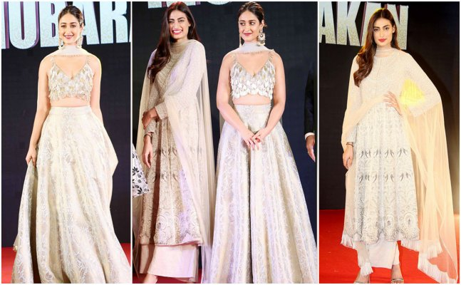Athiya Shetty & Ileana D`Cruz jazz up ethnics at `Mubarakan` Sangeet night