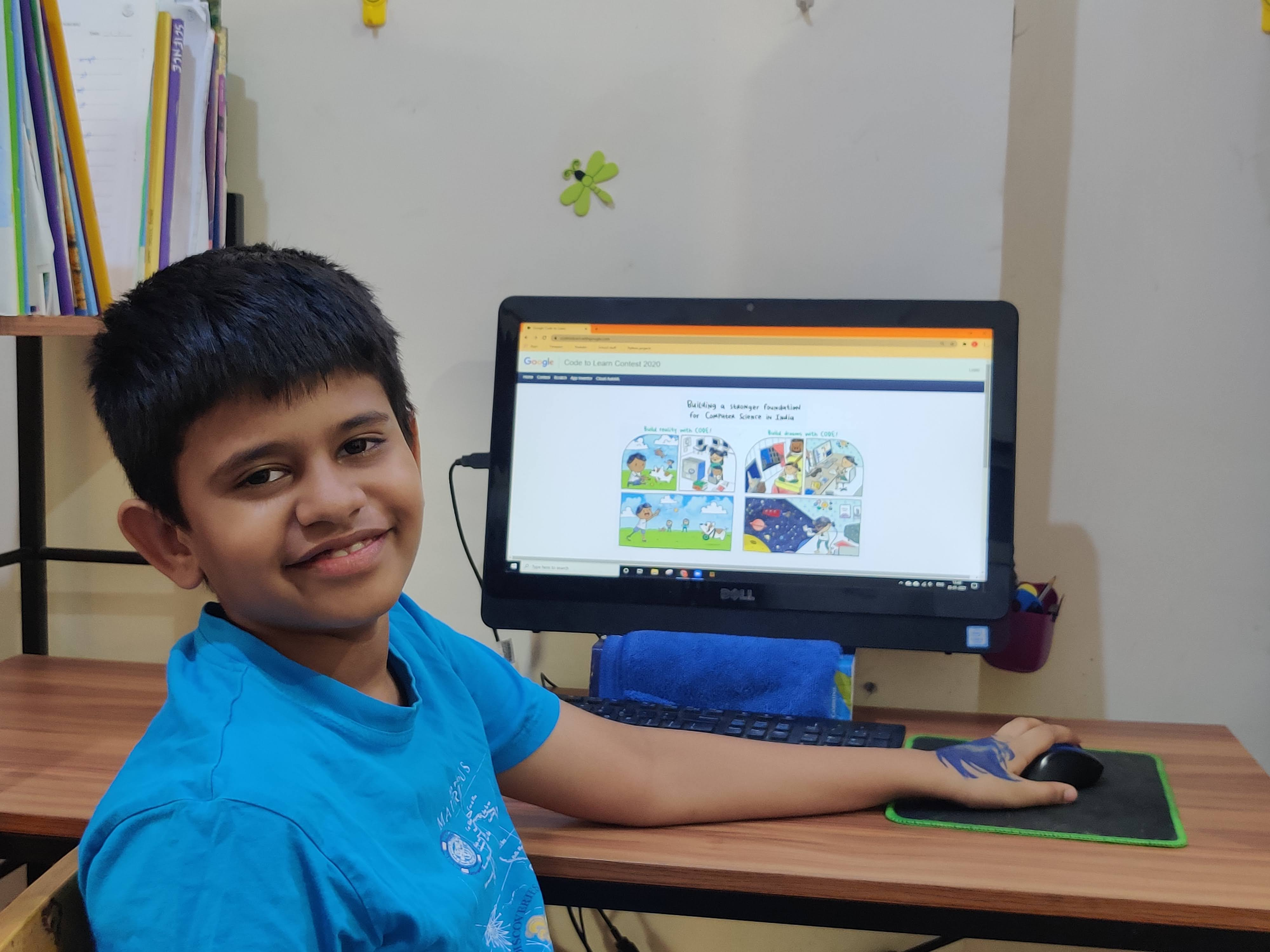 A Class 5 student of BHIS emerged as Winner in All India coding contest conducted by Google