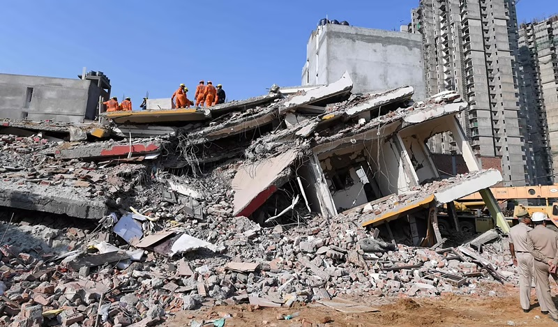 Gujarat: 4 dead, 2 rescued in cave-in at building site in Surat