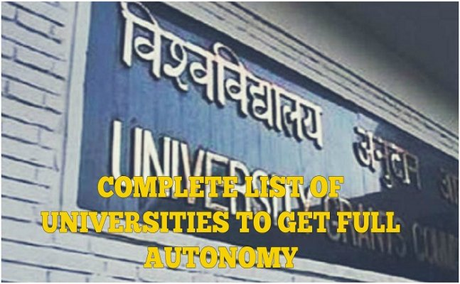 60 educational institutions get full autonomy, see complete list here