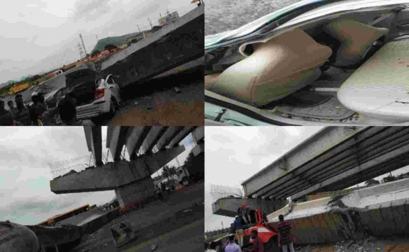 Under-construction flyover collapses in Vizag, leaves 2 dead and 11 injured