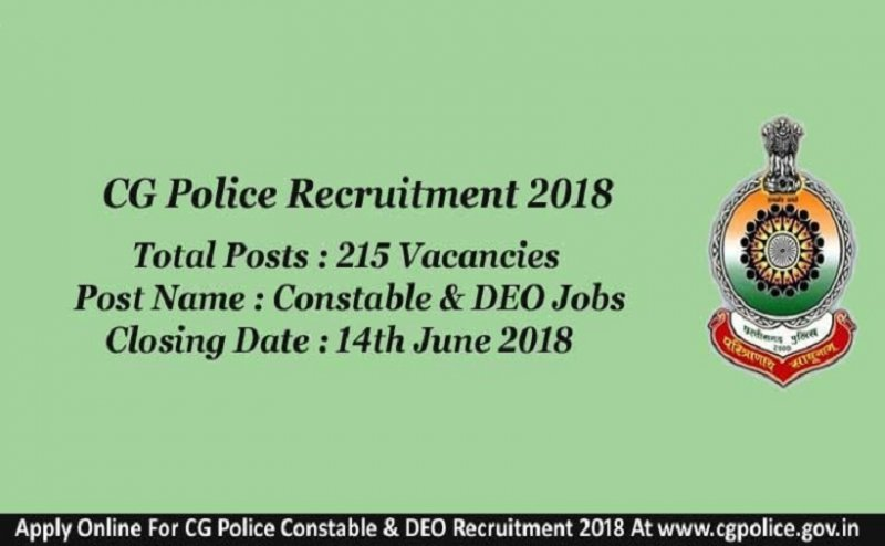 Last date of registration for 215 posts of Constable and DEO, Apply now