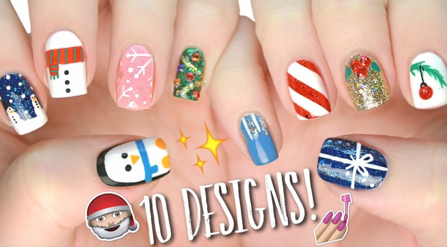 This Christmas give a shot to some amazing nail arts