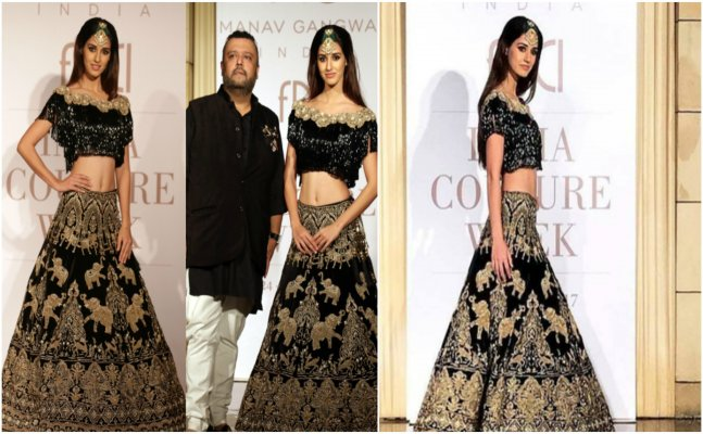Disha Patani looks GORGEOUS as show stopper for India Couture Week