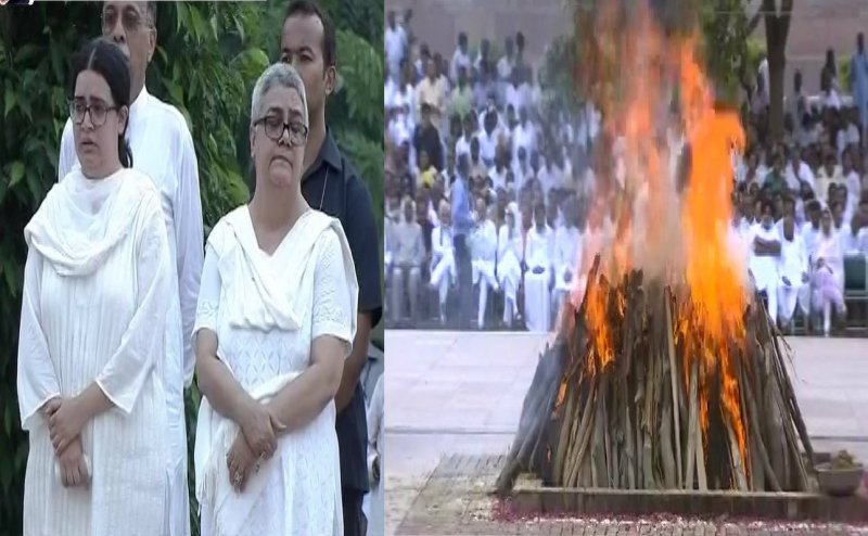 Atal Bihari Vajpayee cremated: Daughter Namita Bhattacharya lights pyre to bid final goodbye