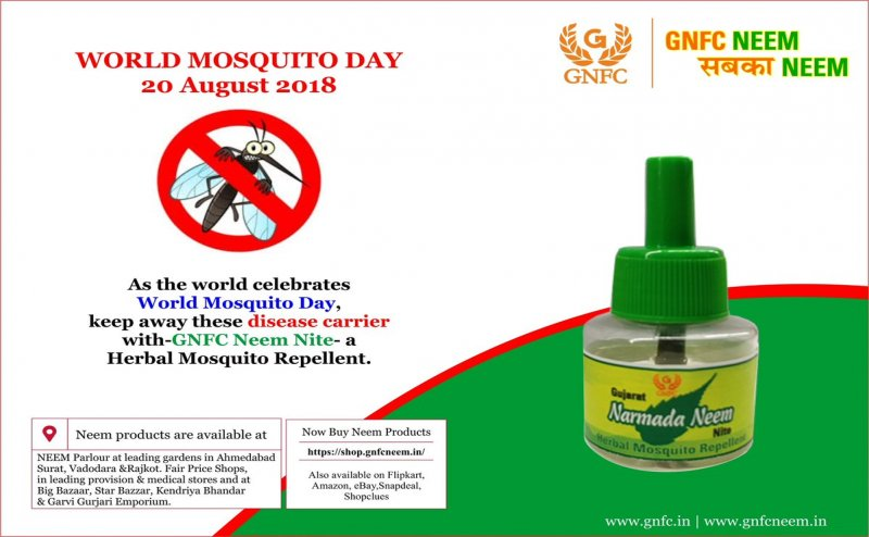 Ditch hazardous chemicals with GNFC's all natural neem mosquito repellent