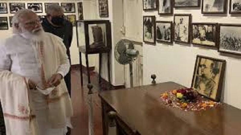 PM Modi reaches Netaji Bose's home at Elgin Road in Kolkata