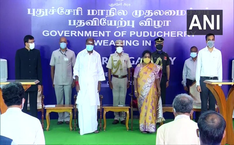Puducherry: 11 test positive for Covid-19 at Puducherry CM N Rangasamy's oath-taking ceremony