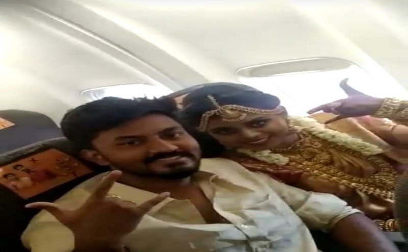 Viral Video: Madurai couple ties knot mid-air in a chartered Boeing 737, crew derostered,