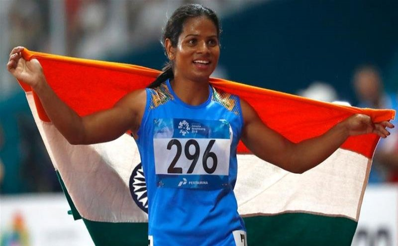 Odisha`s Dutee Chand earns qualifiication for 100, 200 metre evens  at Tokyo Olympics a day after khel ratna nomination