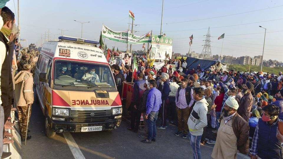 Farmers blocked Delhi-Ghaziabad carriageway at UP Gate on Monday morning