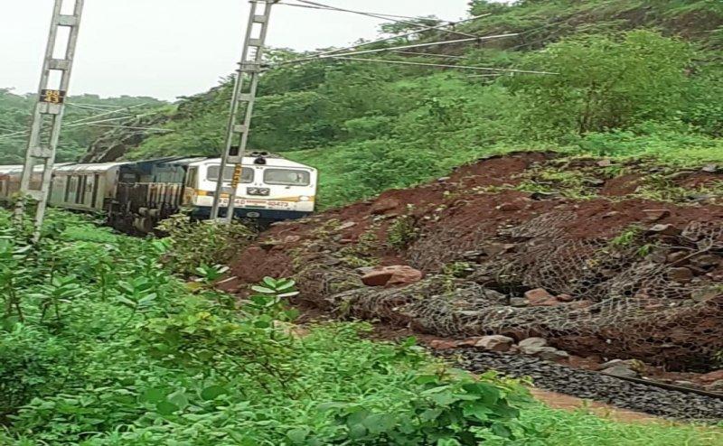 Mangalore - Mumbai Rail Line Blocked after Landslide