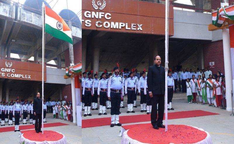 GNFC director hoists flag in Bharuch