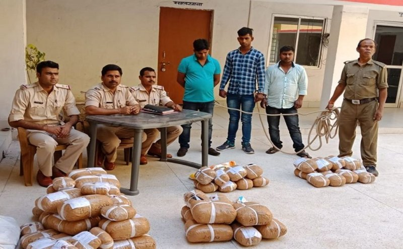 Ganja hidden with Mangoes Transported from Odisha, 4 Arrested from Jamshedpur and Bihar