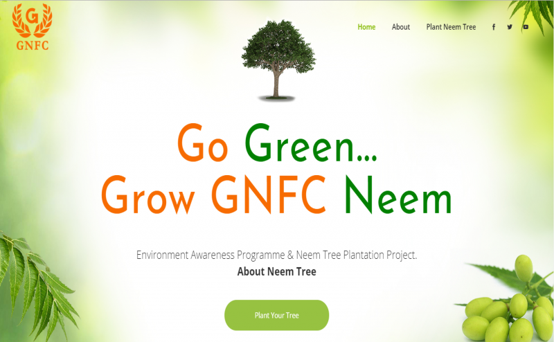 GNFC will plant a NEEM TREE in your name, join the drive
