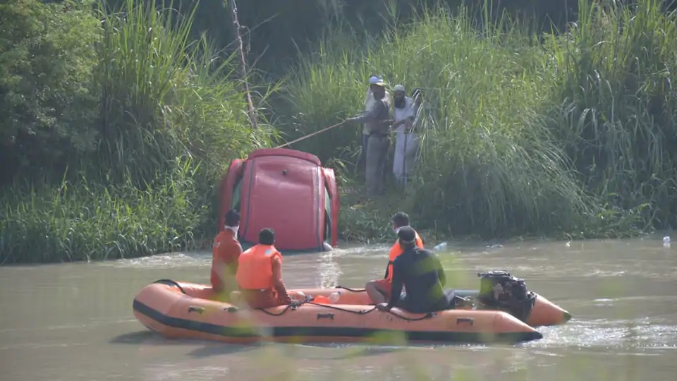 3 missing, 1 rescued after car plunges into Upper Ganga Canal in Ghaziabad