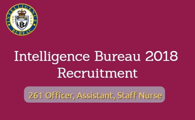 IB recruitment 2018 notification detail, 250+ vacancies