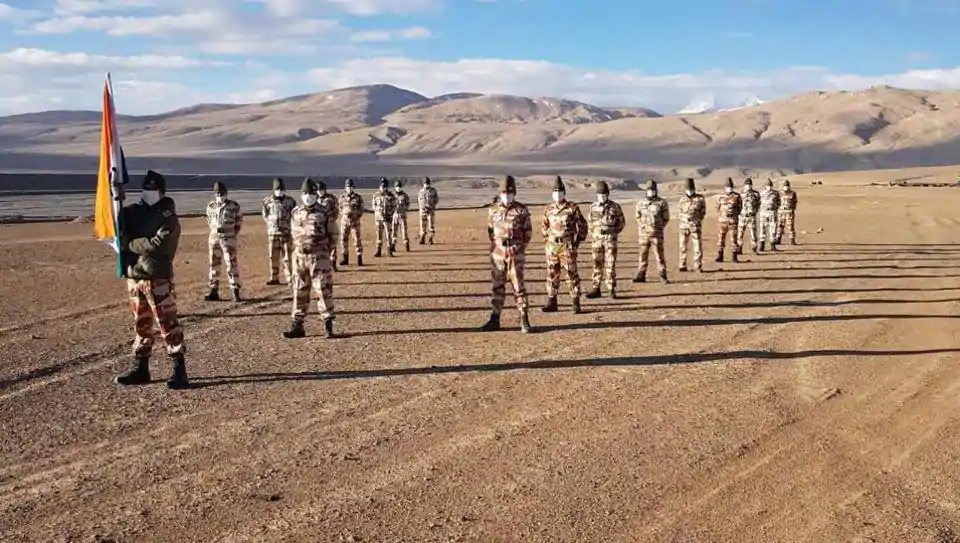 ITBP soldiers celebrate Independence Day at 14,000 feet in Ladakh
