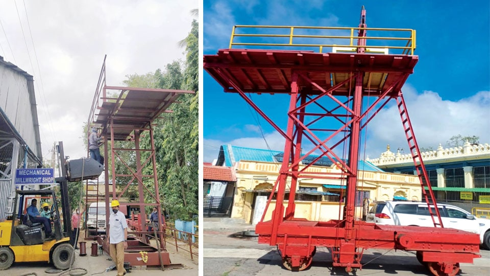 Chamundi Temple To Get New Crane Worth Rs 5.20 Lakhs For Lifting Idol