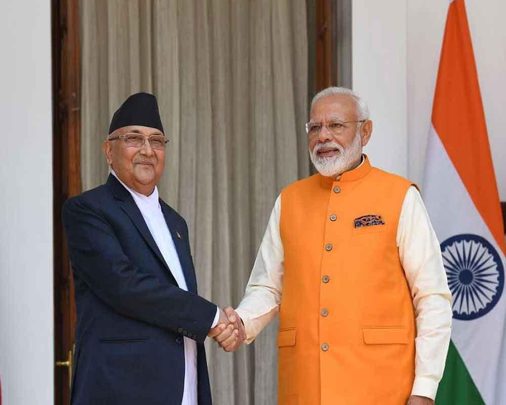 Nepalese PM KP Sharma Oli calls Narendra Modi to greet him on I-day