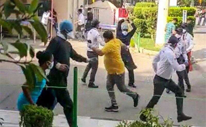 Locals attack medical team at Covid-19 vaccine centre