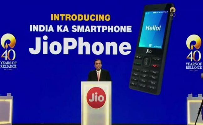 Reliance launches JioPhone with refundable price