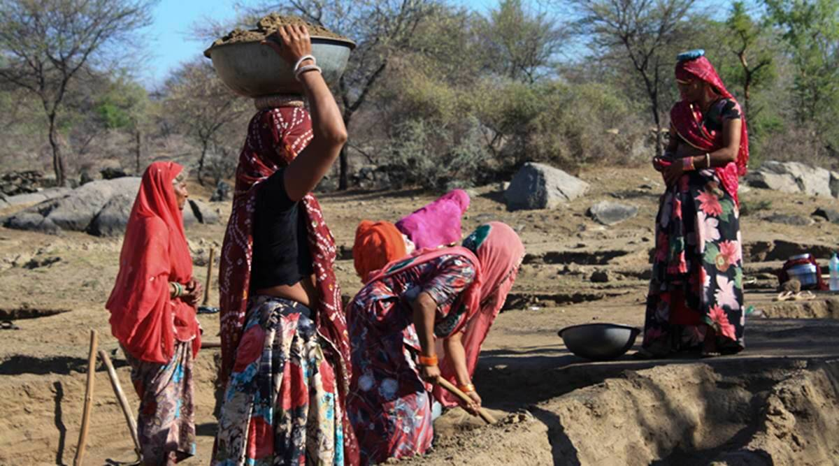 Malliamman Durgham tribal received work under MNREGS for the first time