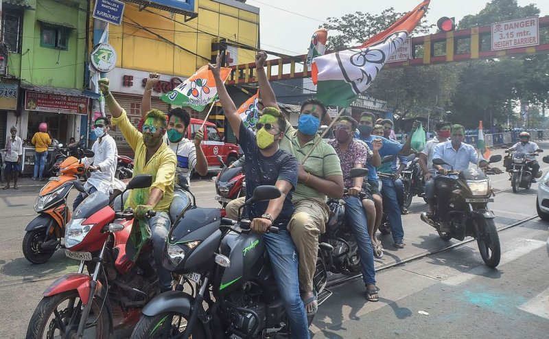 BJP worker in Jamshedpur protest against post-election violence in Bengal