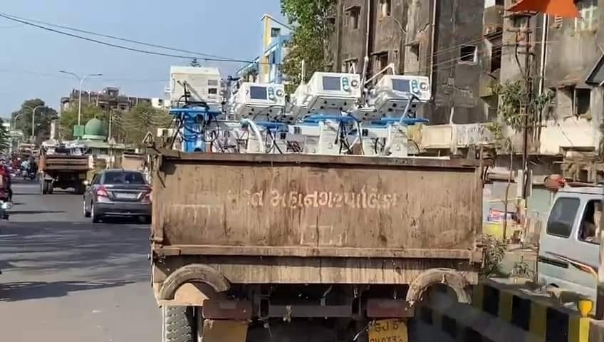 Check out the photos how ventilators are transported in garbage truck amid Covid spike