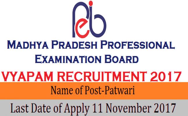 Madhya Pradesh (MP) Vyapam Patwari recruitment 2017: Apply for 9,235 posts
