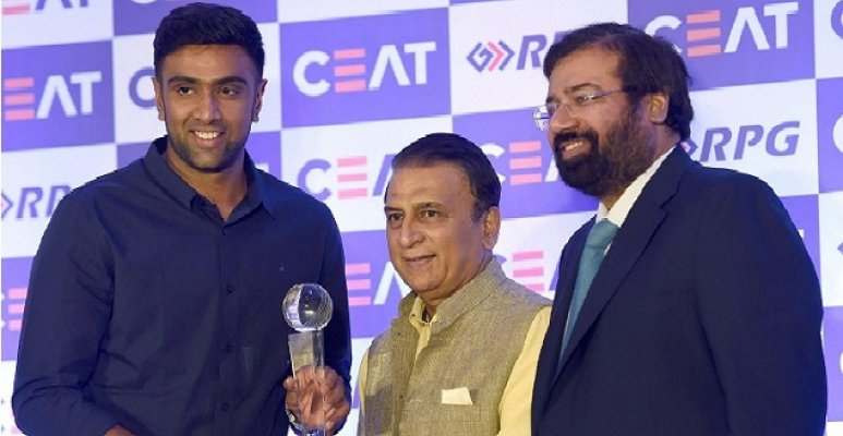 Ashwin receives International Cricketer of the Year award
