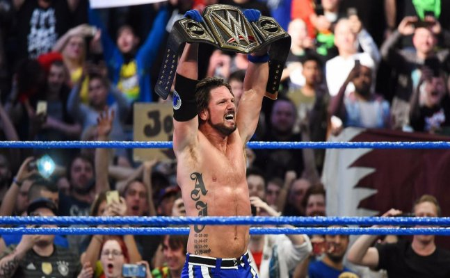 Jinder Mahal defeated, loses WWE championship to AJ Styles