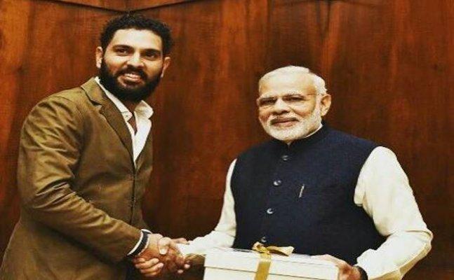Yuvraj Singh receives letter from PM Modi