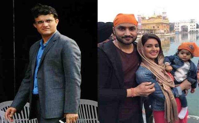 Ganguly confuses Harbhajan's daughter for a boy