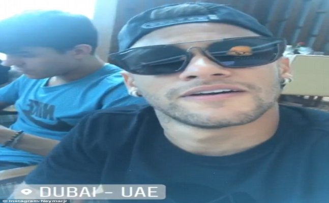 Neymar arrives in Dubai ahead of world record move to PSG