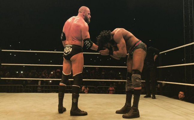 WWE India: Triple H does the Bhangra with Jinder Mahal