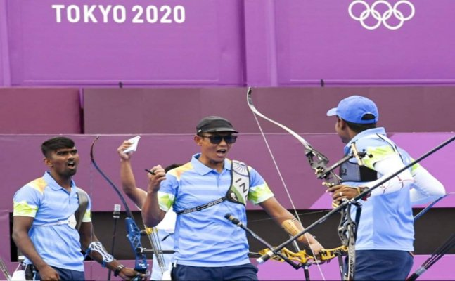 Men's double archery team knocked out of quarters by Korean pair