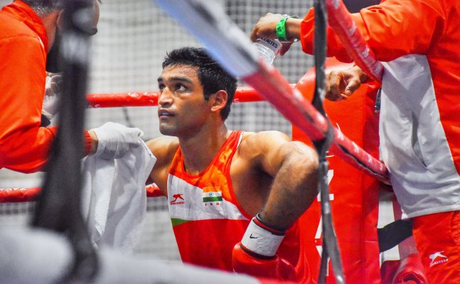 Boxer Ashish Chaudhary knocked out in opening match against China's Erbieke Tuoheta