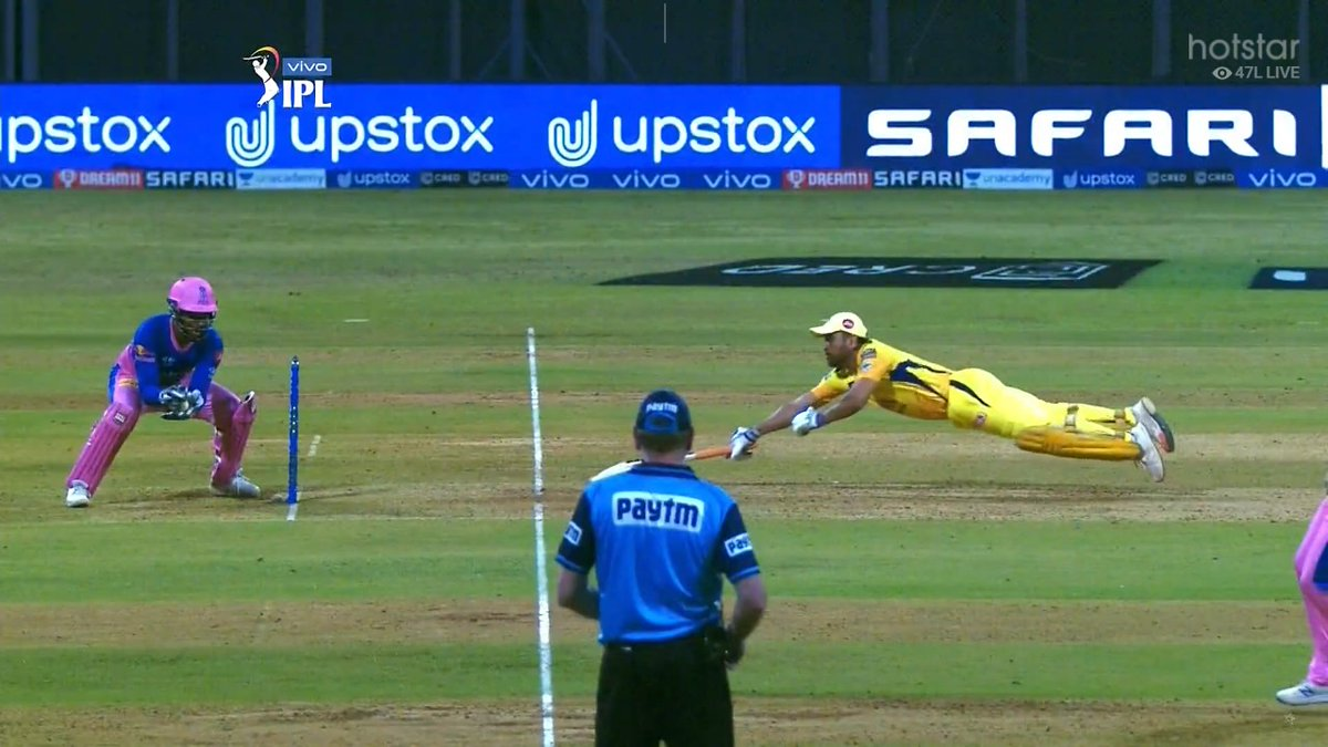 IPL 2021: Indian cricket fans furious over Dhoni's full-length dive in CSK vs RR