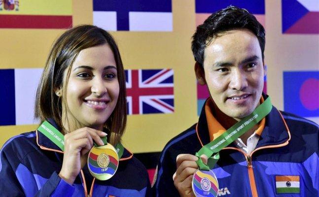 Jitu Rai, Heena Sidhu bag gold in ISSF World Cup