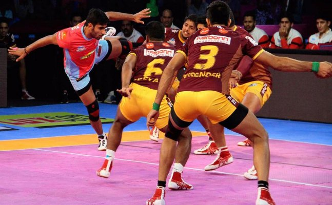 PKL 2017: UP Yodhha hammer Jaipur Pink Panthers, Rishank Devadiga Creates History